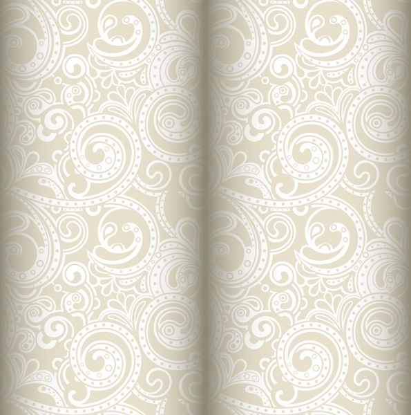 cloth pattern template elegant vintage curves 3d sketch