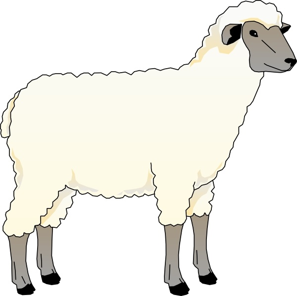 Nice Sheep Ewe Clip Art Free Vector 110.06KB