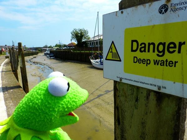 shield warning danger of water