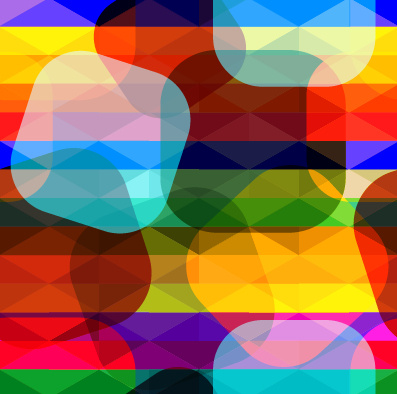 shiny colored shapes vector background