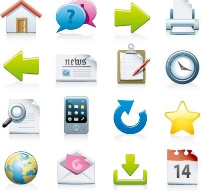 shiny colored web icons