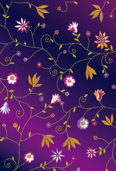 shiny colorful flowers background vector