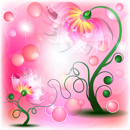 Shiny flower with pink background vector free vector in adobe shiny flower with pink background vector mightylinksfo