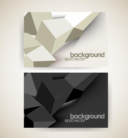 Shiny geometric shapes business cards vector free vector in shiny geometric shapes business cards vector colourmoves