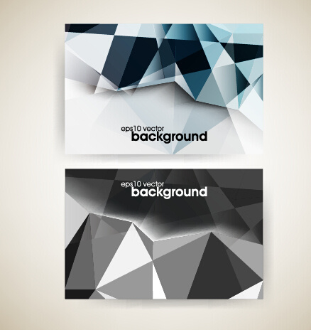 Shiny geometric shapes business cards vector free vector in shiny geometric shapes business cards vector reheart