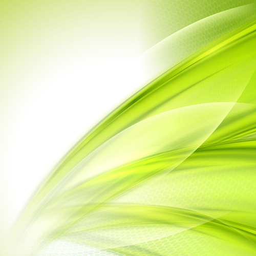 Shiny Green Wave Abstract Background Vector Free Vector In