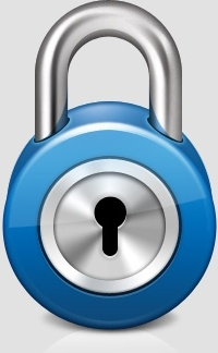 Shiny Lock Web Icon