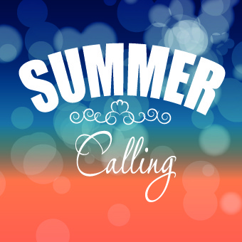 shiny summer art background vector