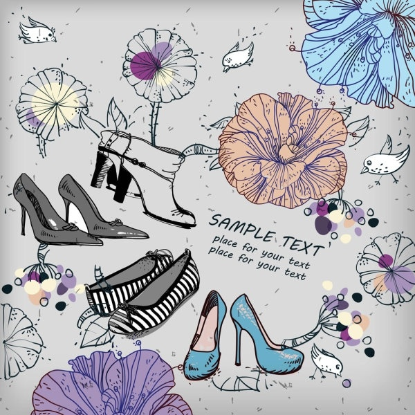 shoes fashion illustrator 01 vector