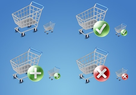 Shop Cart Icons icons pack
