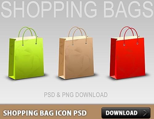 Shopping Bag Icon Free PSD