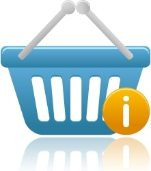 Shopping basket info