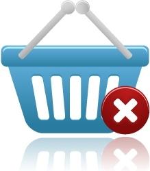 Shopping basket remove