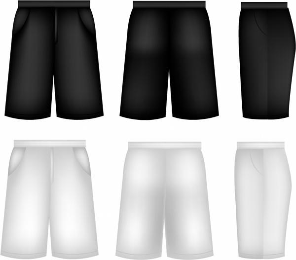 black shorts template