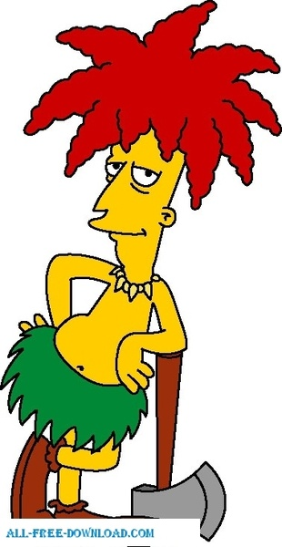 Sideshow Bob 01 The Simpsons Free Vector In Encapsulated Postscript
