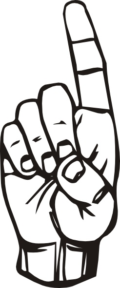 sign language d finger pointing clip art free vector in open office rh all free download com