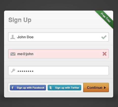 Sign-up Modal Box