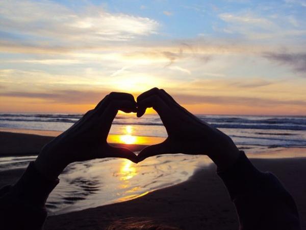 silhouette beach sunrise