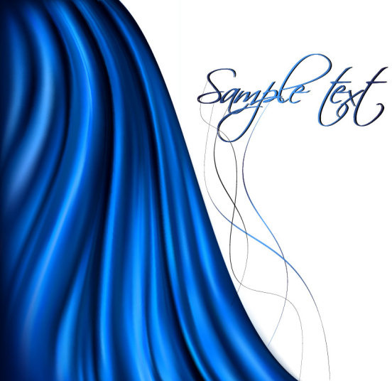 silk cloth elements background vector