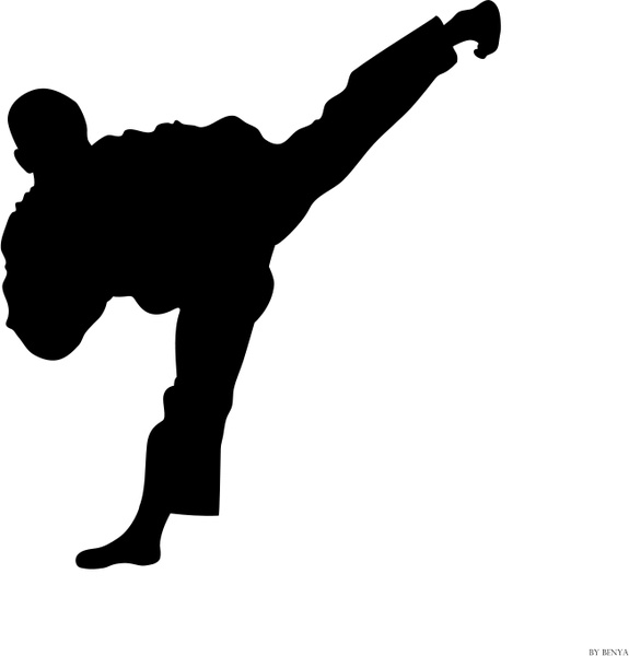 silueta tae kwon do free vector in open office drawing svg svg