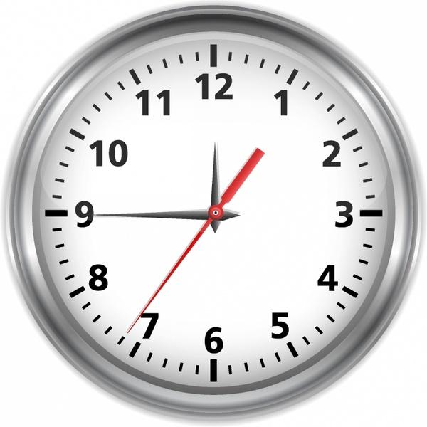Silver clock Free vector in Adobe Illustrator ai (  AI