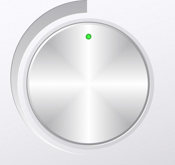 volume button template modern shiny grey metallic decor