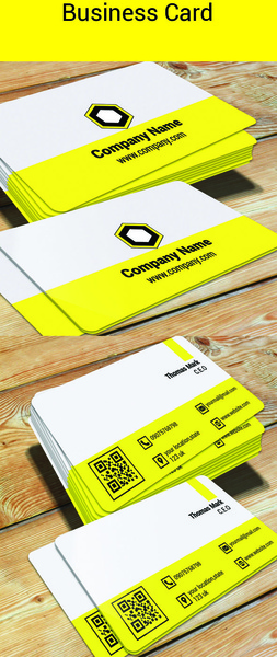 simple and easy designed business card