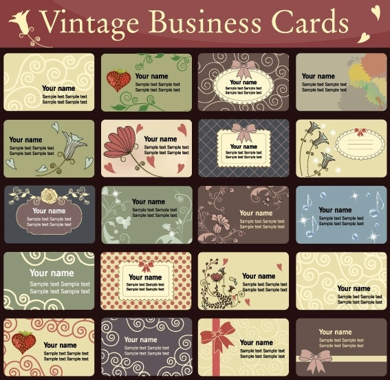Vintage Business Cards Templates Free