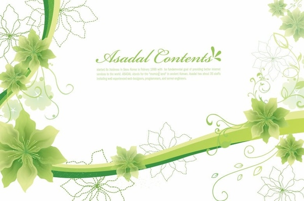simple and elegant floral background vector graphics free vector in