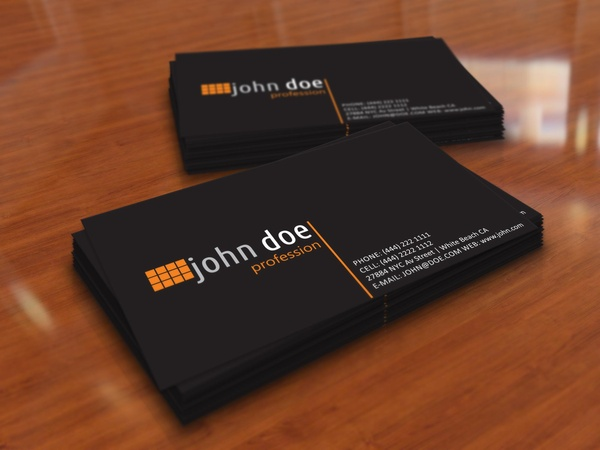 Simple black personal business card template free vector in adobe simple black personal business card template accmission Images