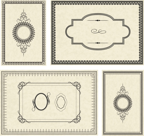 Certificate Borders Templates Classical Seamless Sketch Free Vector