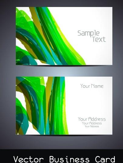 simple business cards design vector set
