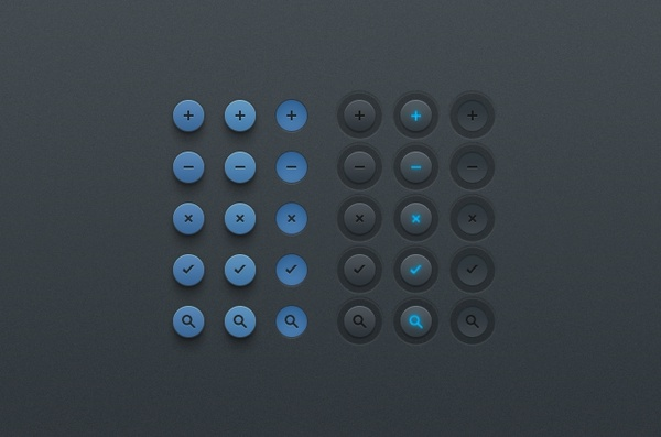 Simple Button UI (PSD)