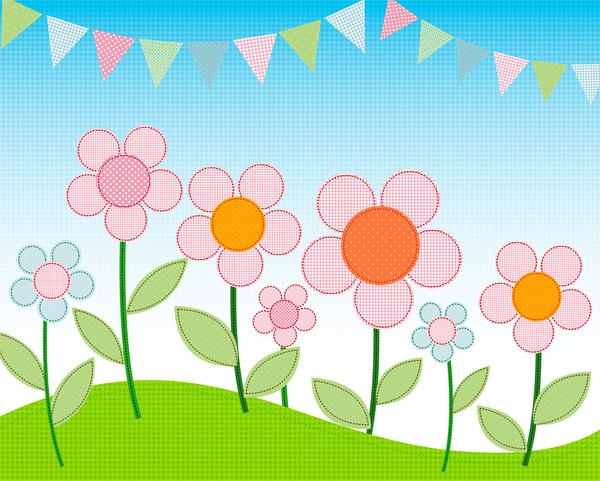 Simple Cartoon Flower Landscape Free Vector In Adobe Illustrator Ai Ai Vector Illustration Graphic Art Design Format Encapsulated Postscript Eps Eps Vector Illustration Graphic Art Design Format Format