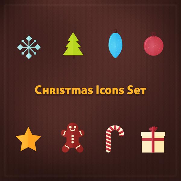simple christmas icons set