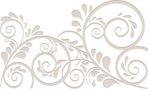 simple floral ornament background vector