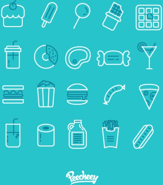 simple food icons