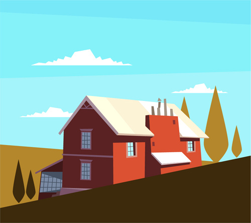 Simple House Drawing Free Vector Download (93,132 Free