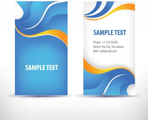 simple pattern business card template 02 vector