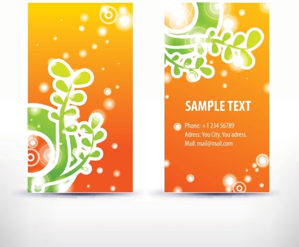 simple pattern business card template 05 vector