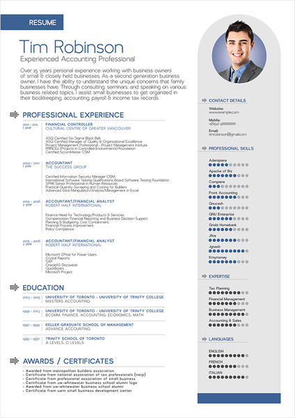 Simple Professional Resume Template Free Vector 139MB