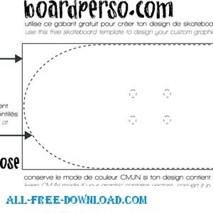 skateboard template free vector in encapsulated postscript eps