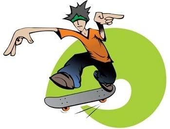 Skateboarding Vector 3 Free In Adobe Illustrator Ai