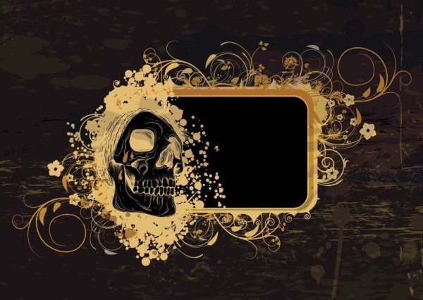 Skeleton Pattern Background 03 Vector Free Vector In Encapsulated