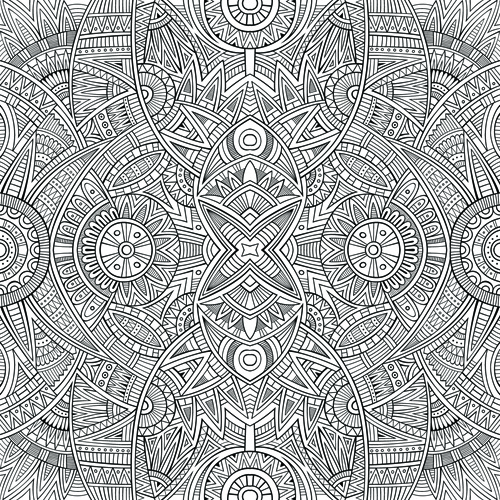 sketch abstract floral vector seamless pattern