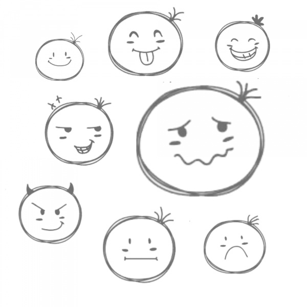 sketchy face icon brushes