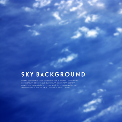 sky with cloud blue background vector