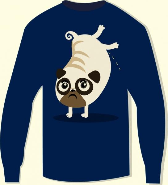 sleeve tshirt design cute puppy pissing cartoon design
