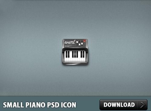 Small Piano PSD Icon