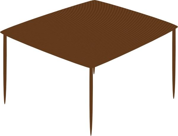 Small Square Table Clip Art